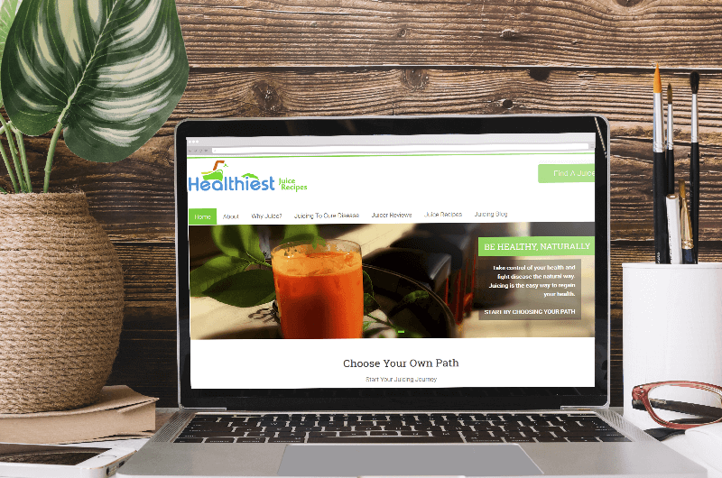 Healthiest Juice Recipes was created and designed by Polar Web Designs creative design team