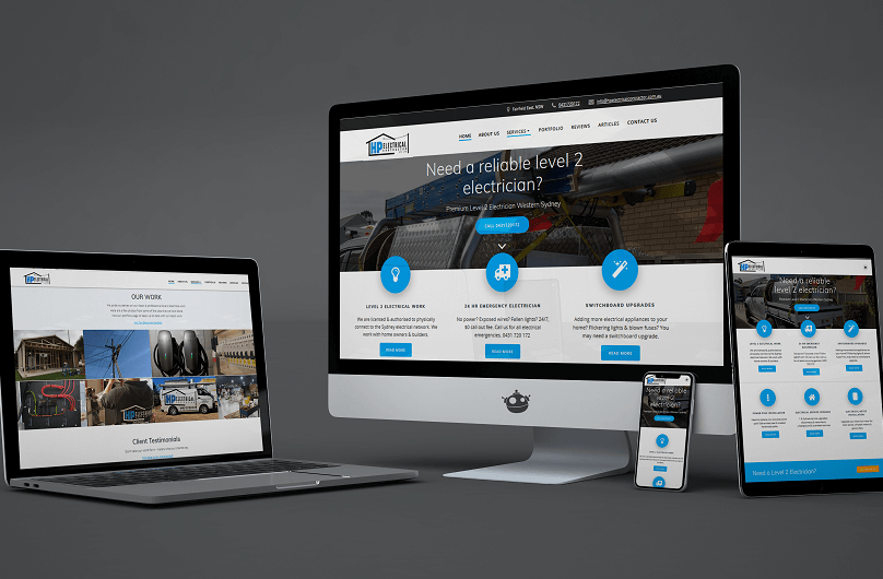 The leading Electrician in Western Sydney who is based in Fairfield uses Polar Web Designs to help them dominate the Level 2 Electrician market online