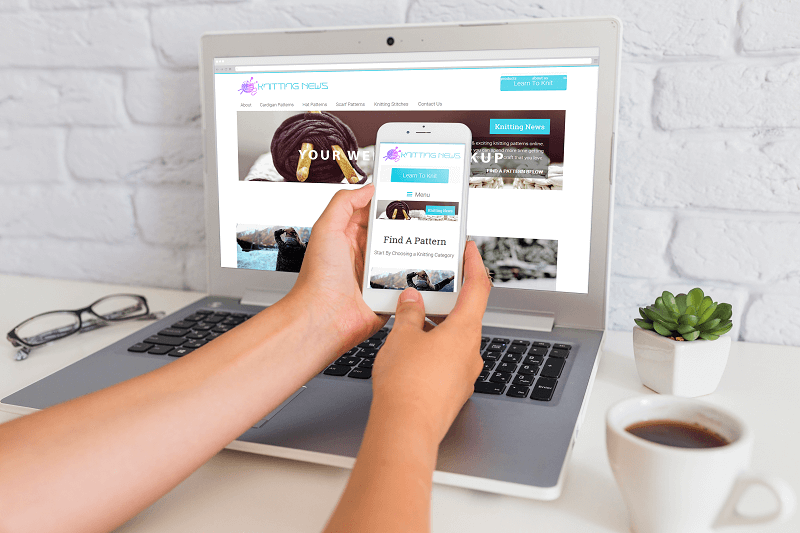 Polar Web Design works closely with Knitting News to become the market leader in the online knitting space