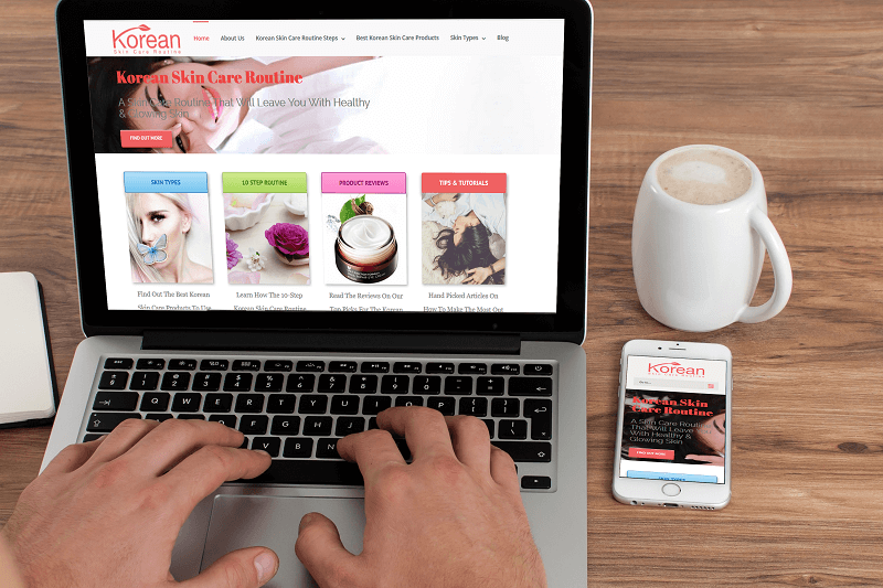 Korean Skin Care Routine was Polar Web Designs first website to become a market influencer in the skin care niche online