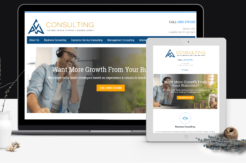 Polar Web Design produced a high converting lead generating website for PCW consulting in Sydney