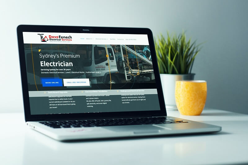 Dave Fenech Electrical Services Sydney's Best Level 2 Electrician- Polar Web Design Parramatta client portfolio