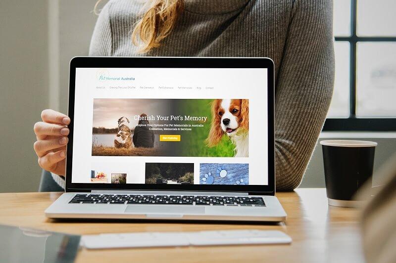 Pet Memorial Australia - Web design Parramatta client portfolio