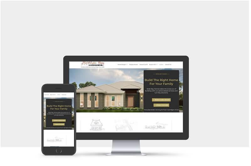 Wide Bay Homes - Web design Parramatta client portfolio