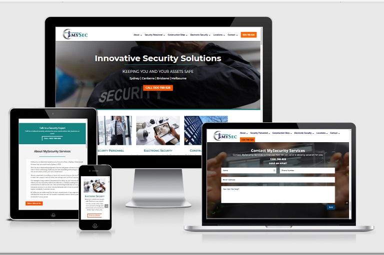 Polar Web Design Parramatta Client Portfolio - My Security Services