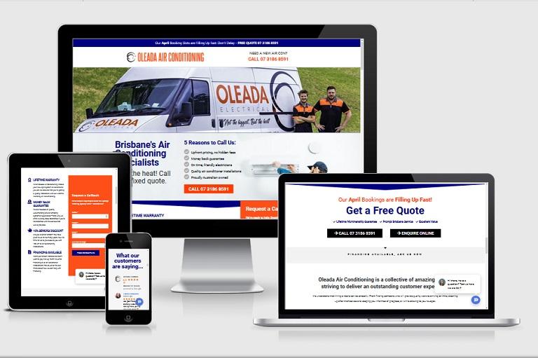 Polar Web Design Parramatta Client Portfolio - Oleada Air Conditioning