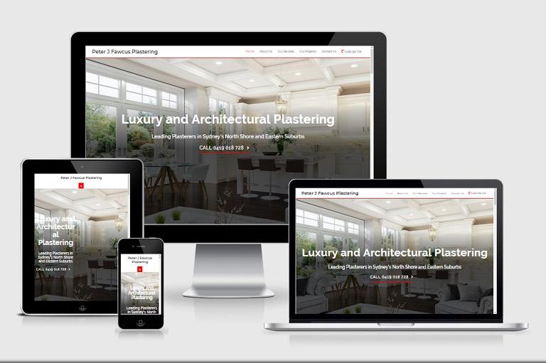 Polar Web Design Parramatta Client Portfolio - Peter J Fawcus Plastering