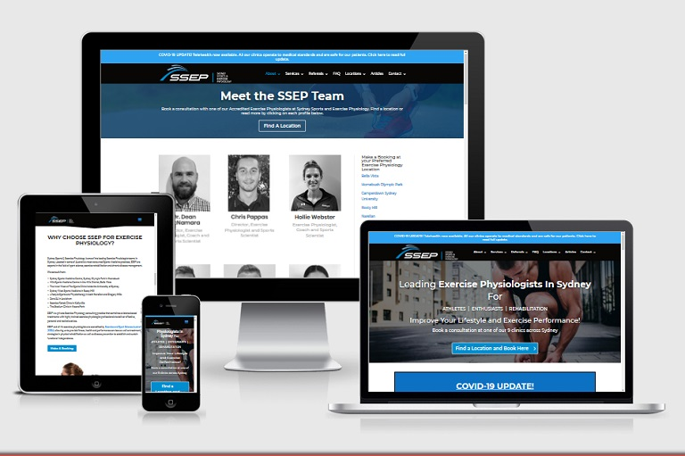 Polar Web Design Parramatta Client Portfolio - Sydney Sports and Exercise Physiology
