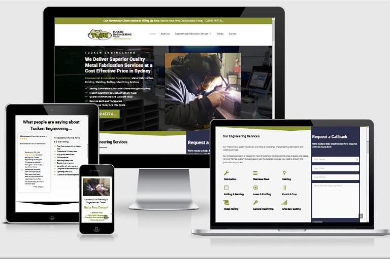 Polar Web Design Parramatta Client Portfolio - Tusken Engineering