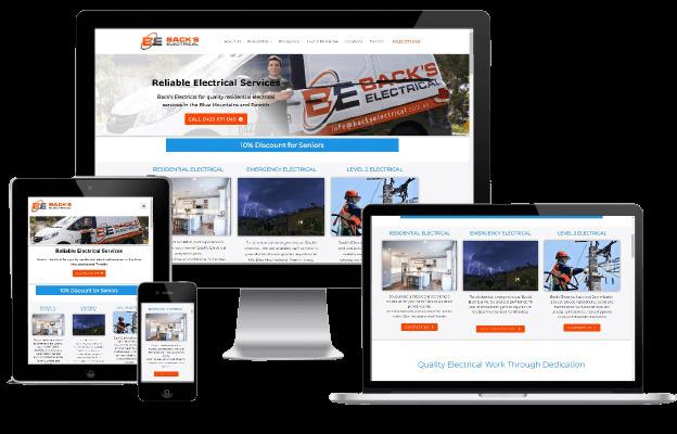 Websites Polar Web Design Portfolio - Back's Electrical