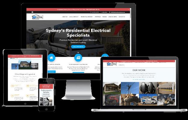 Websites Polar Web Design Portfolio - HP Electrical Contractor