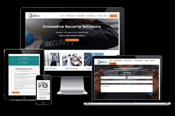 Websites Polar Web Design Portfolio - My Security Services