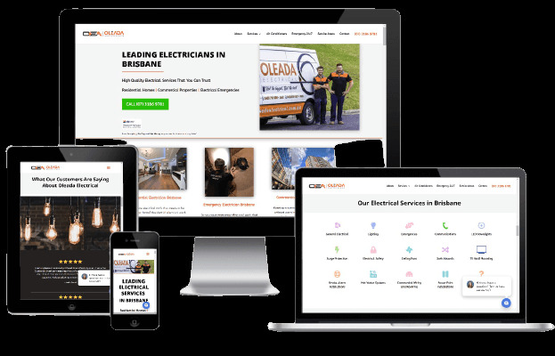 Websites Polar Web Design Portfolio - Oleada Electrical