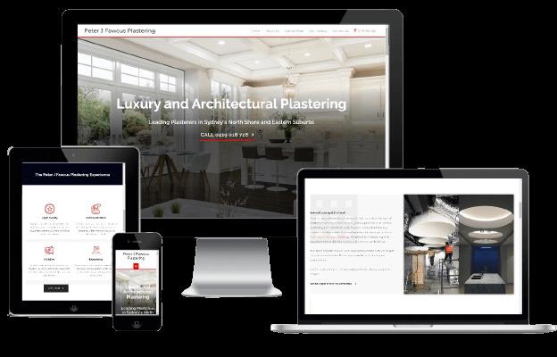 Websites Polar Web Design Portfolio - Peter J Fawcus Plastering