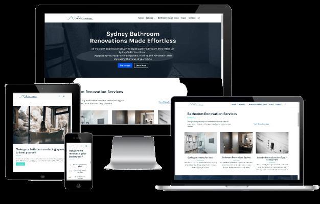 Websites Polar Web Design Portfolio - Quality Bathroom Renos