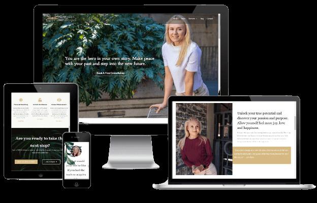 Websites Polar Web Design Portfolio - Veronika Rumanov Life Coach